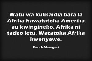Afrika ni tatizo letu