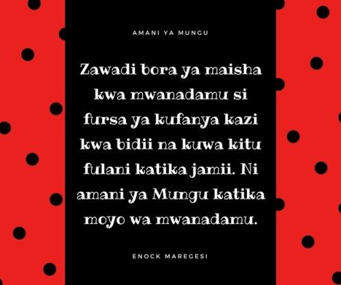 Amani ya Mungu